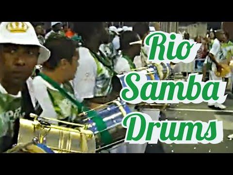 SAMBA DRUMMING: RIO CARNIVAL DRUMS AT IT´S BEST! FULL BATUCADA LIVE AT SAMBADROME