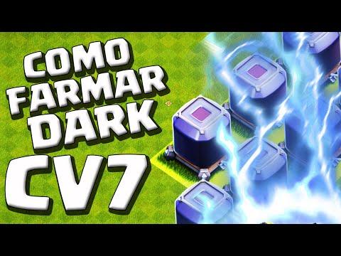 COMO FARM DARK COM RAIOS NO CV7 - CLASH OF CLANS