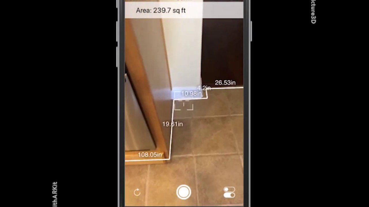 Room measurement using Apple's ARKit by @smartpicture3d