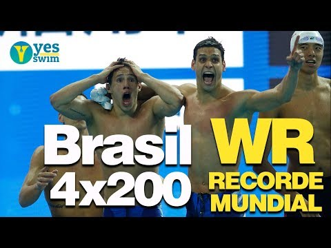 Men's 800 free relay Hangzhou - BRAZIL WORLD RECORD BREAKER!