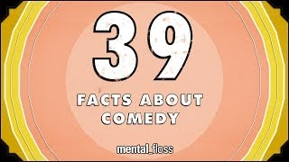 Repeat youtube video 39 Facts About Comedy - mental_floss on YouTube (Ep.209)