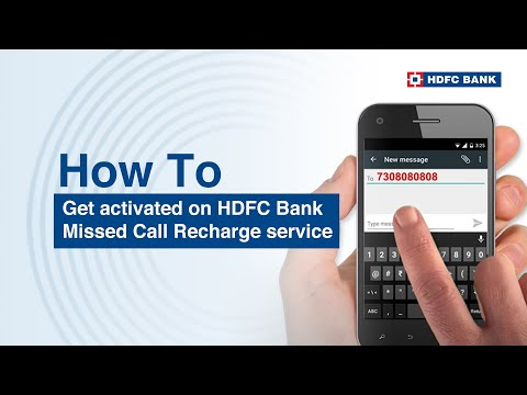 HDFC Bank Missed Call Mobile Recharge