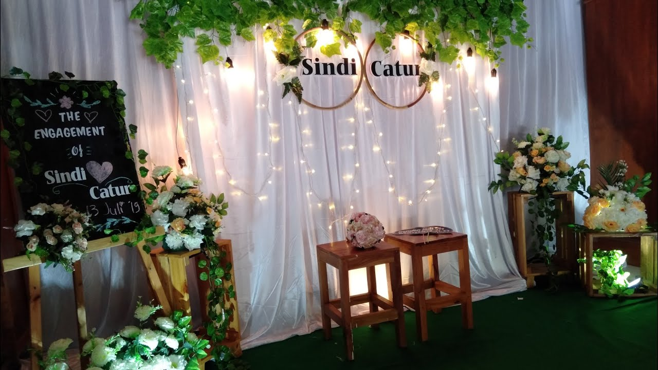 Diy Backdrop Rustic Decoration Cara Pasang Dekorasi Kain