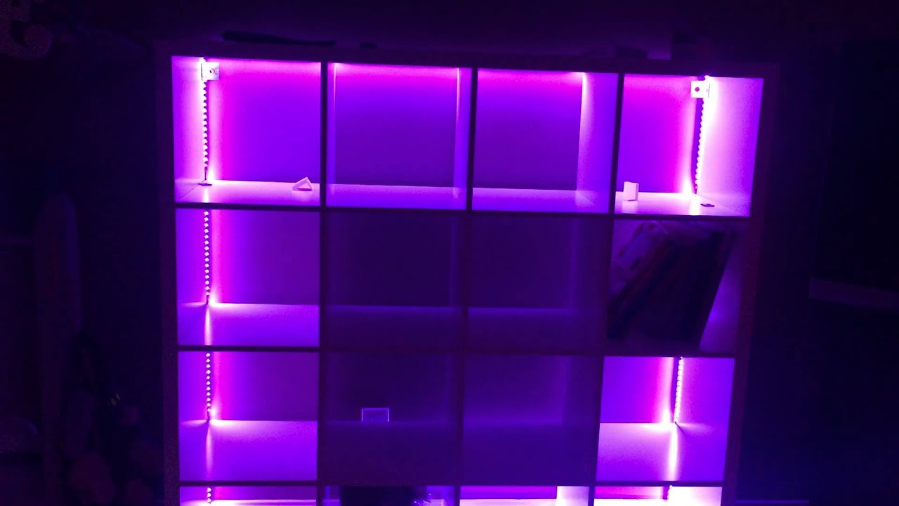 IKEA Storage Shelf With Attached Led Lights From Amazon