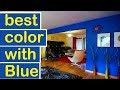 best color with blue  -  home decor ideas