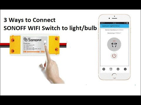 Connect Lights With Sonoff Wifi Switch