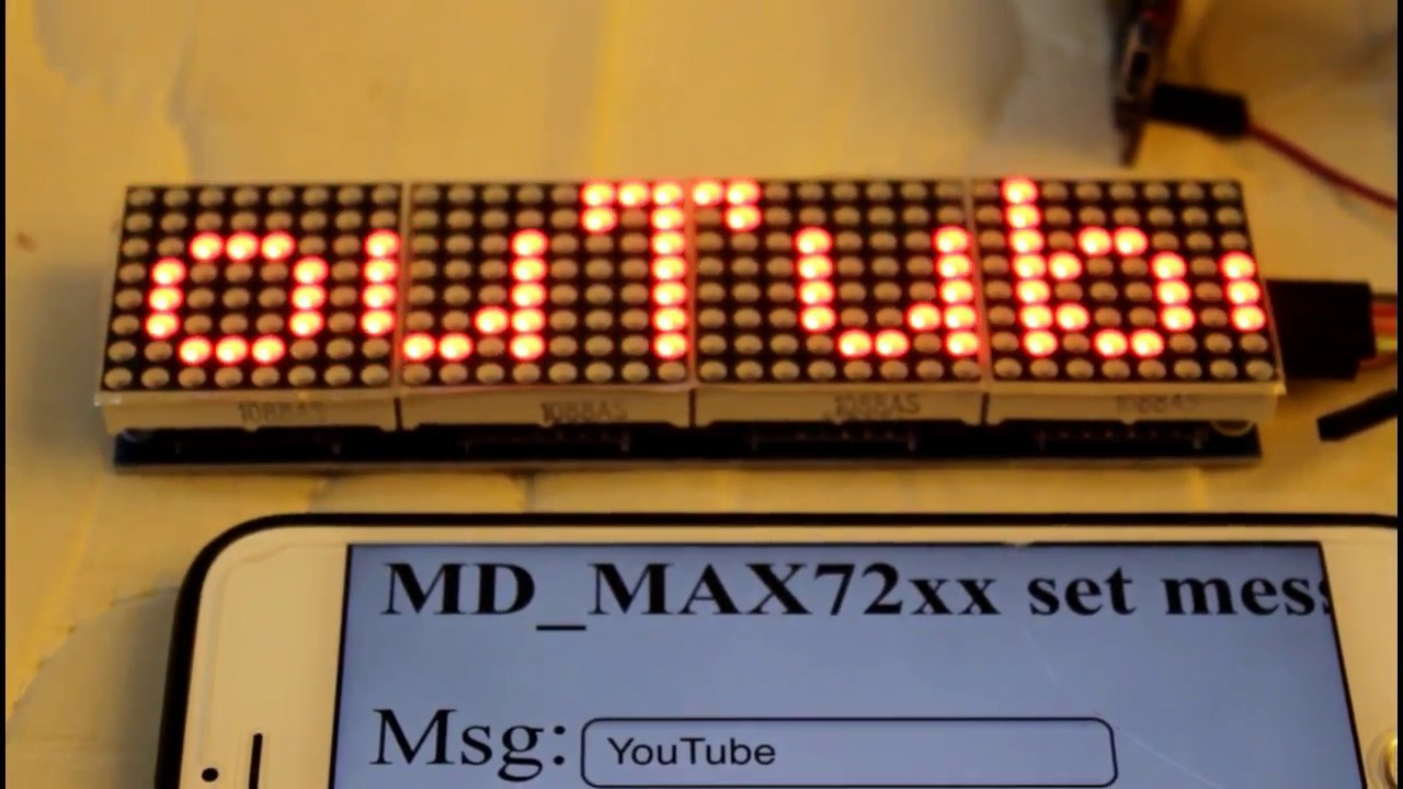 How to Control MAX7219 LED Matrix with ESP8266 WiFi Module
