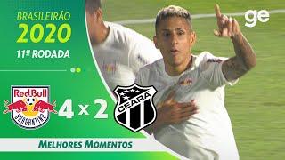 BRAGANTINO 4 X 2 CEARÁ | MELHORES MOMENTOS | 11ª RODADA BRASILEIRÃO 2020 | ge.globo