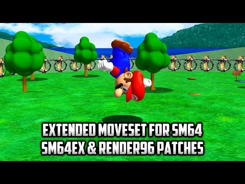 ⭐ Super Mario 64 PC Port - Mods - Extended Moveset For SM64 V1.01a - Sm64ex & Render96 Patches