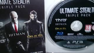 Nostalgamer Unboxing Ultimate Stealth Triple Pack On Sony Playstation 3 UK PAL