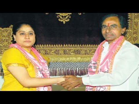 KCR Plans To Join Vijaya Shanthi And Others In TRS Party