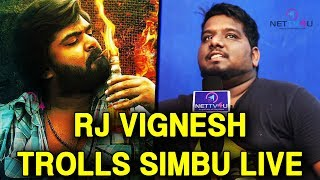 RJ Vigneshkanth Eagerly Waiting To Openly Troll Simbu | Independent Artist Season - 1 Grand Finale