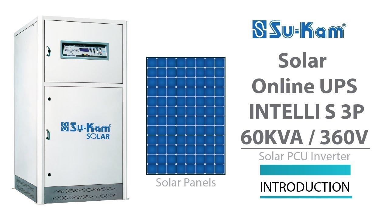 Solar Online UPS Intelli S 60 KVA / 360V Introduction Solar PCU Inverter