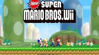 Wii Longplay [021] New Super Mario Bros. Wii (Part 1 of 3)