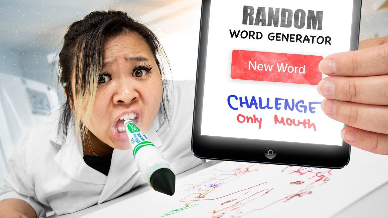 RANDOM WORD GENERATOR DRAWING ART CHALLENGE