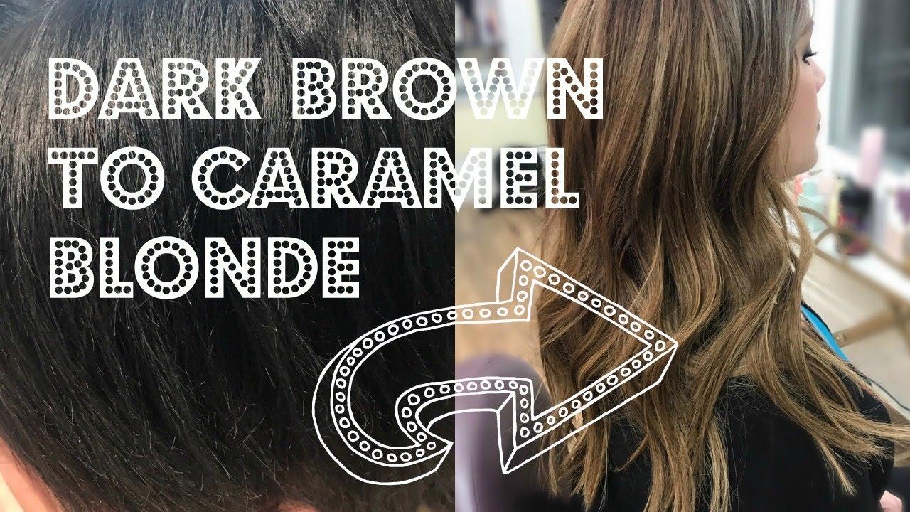 Dark Brown To Caramel Blonde Pravana Color Remover Youtube