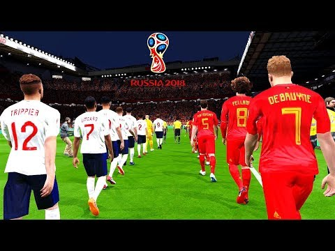 Belgium vs England  FIFA World Cup Russia 14 July 2018 Gameplay