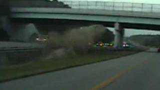 Insane Crash! Police Cruiser Records I675 Southbound Accident Dayton, OH (8-23-2010)