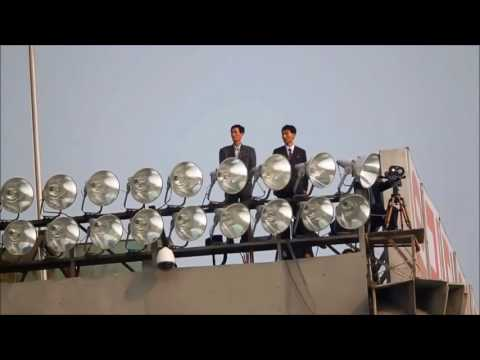 North koreans marching to old dutch music