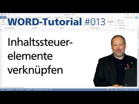 Word: Inhaltssteuerelemente verknüpfen • Für 2013 • Markus Hahner®