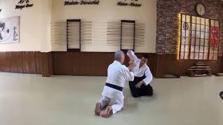 Hanmi Handachi Waza Gyaku Hanmi Katetedori (Junte) Sankyo (Omote-Ura)