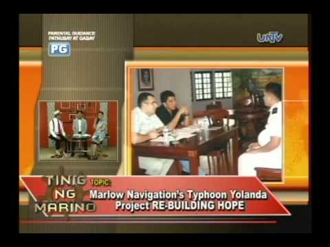 Marlow Navigation brings hope to Yolanda victims