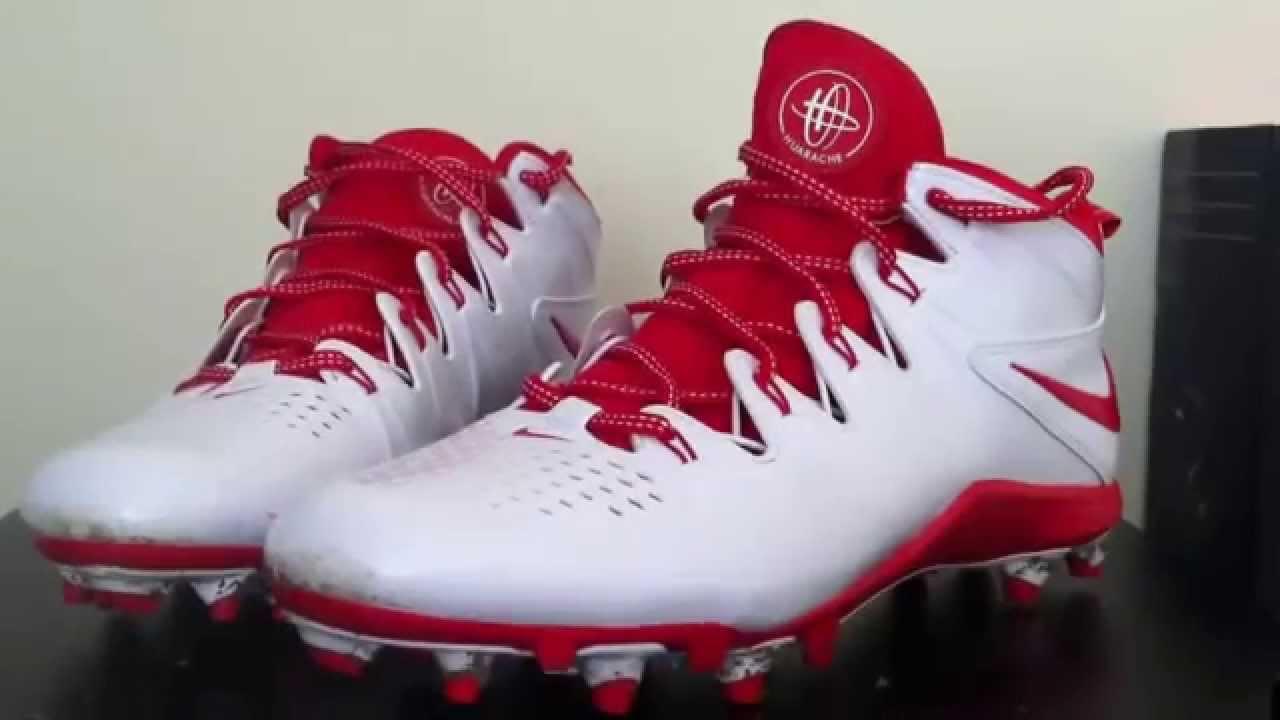 f53bd6c05c18 Nike Huarache 4 Lacrosse Cleat - YouTube