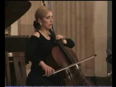 J.Brahms  sonate e-moll  1.mov. Sanja Jancic-cello  Aurelie Tremblay-piano