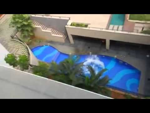 crazy kid jumps of 5th floor into swimming pool