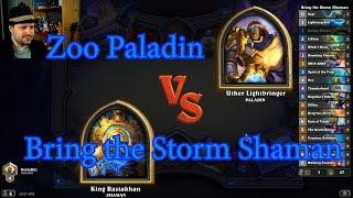 Bring the Storm Shaman vs Zoo Paladin | Hearthstone