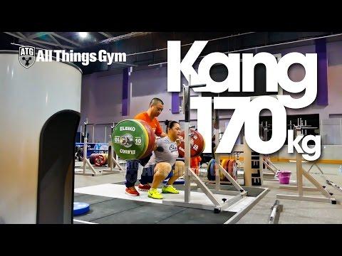 Yue Kang (China) 170kg x5 Squat Almaty 2014 Training Hall HD 60P