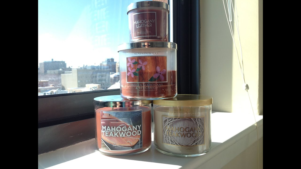Bath Body Works Mahogany Teakwood History And In Depth Candle Review