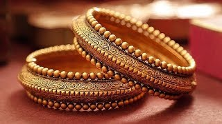 Antique Gold Flat Bangles Designs 2019 | Indian Jewellery Design 2019