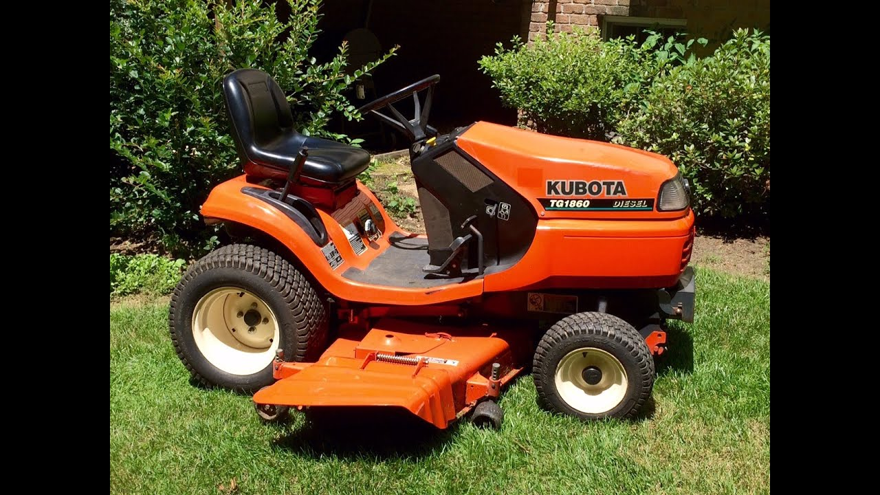 kubota tg1860 diesel lawn garden tractor start up blades engaged rh youtube com Kubota Alternator Wiring Diagram Kubota RTV Wiring Schematics