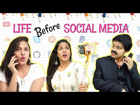 LIFE Before SOCIAL MEDIA – Then vs Now ..  #Fun #Sketch #Roleplay #ShrutiArjunAnand