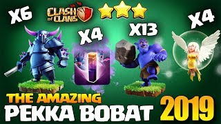 TH12 Pekka BoBat Attack Strategy on ANTI 3 Star Base - Best TH12 Attack Strategy 2019 Clash of Clans