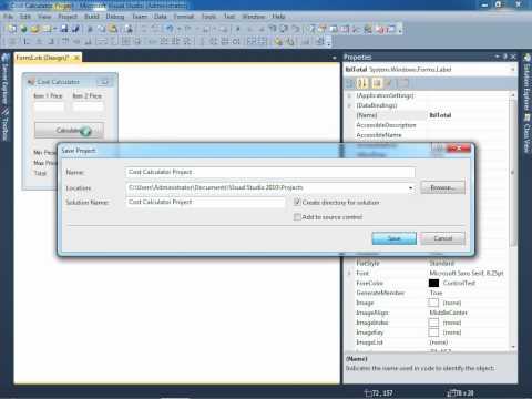 CS111 - Cost Calculator Visual Basic Project