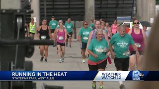 Runners deal with heat at State Fair Park run