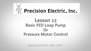 Lenze SMV Training Lesson 12: Basic PID Loop Pump Or Pressure Motor Control - VFDs