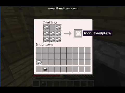 Minecraft - How to make an iron Chestplate/Helmet/Legs ...