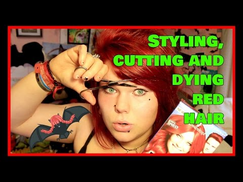 RED HAIR Q&A - Dying, Cutting and Styling Gothic Hair