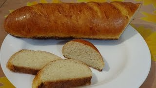 Батон в духовке, вкусный домашний рецепт хлеба(Простой рецепт приготовления домашнего батона в духовке, выпекается вкусный домашний хлеб. Ингредиенты:..., 2015-06-03T20:35:28.000Z)