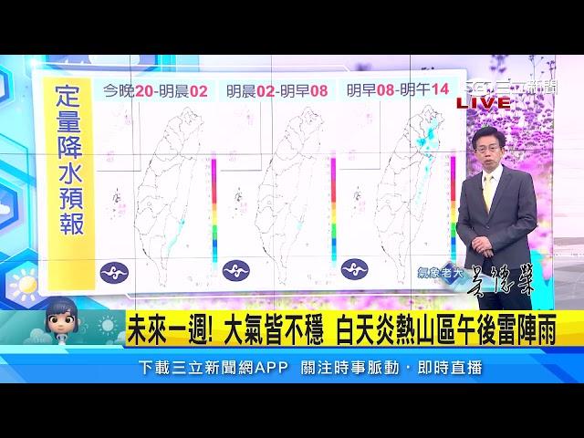 週末鋒面不來了!大氣仍不穩 山區「午後雷陣雨」|三立準氣象|20210503|三立新聞台