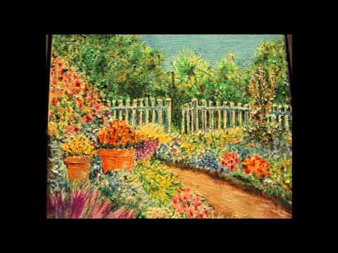 Flower Garden Drawing garden of flowers ( drawing with acrylic colors / duc ) - youtube