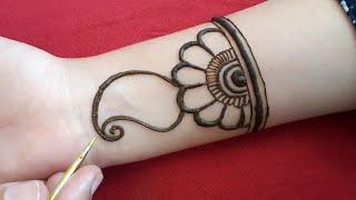 full hand shaded arabic mehndi design/simple/easy mehandi design for front hand 2019/मेहंदी डिजाइन्स