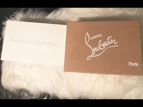 MY WEDDING SHOES!!! - MANOLO BLAHNIK \u0026 CHRISTIAN LOUBOUTIN!  REVEAL and REVIEW!