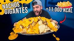 NACHOS GIGANTES con MUCHO QUESO Y BACON +11.000KCAL en 30 MINUTOS *RECETA casera con MÁS CALORÍAS*