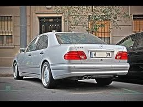 mercedes benz e55 amg w210 exhaust sound youtube. Black Bedroom Furniture Sets. Home Design Ideas