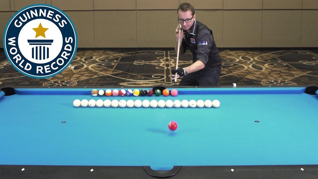 Florian 'Venom' Kohler attempts four pool records - Guinness World Records