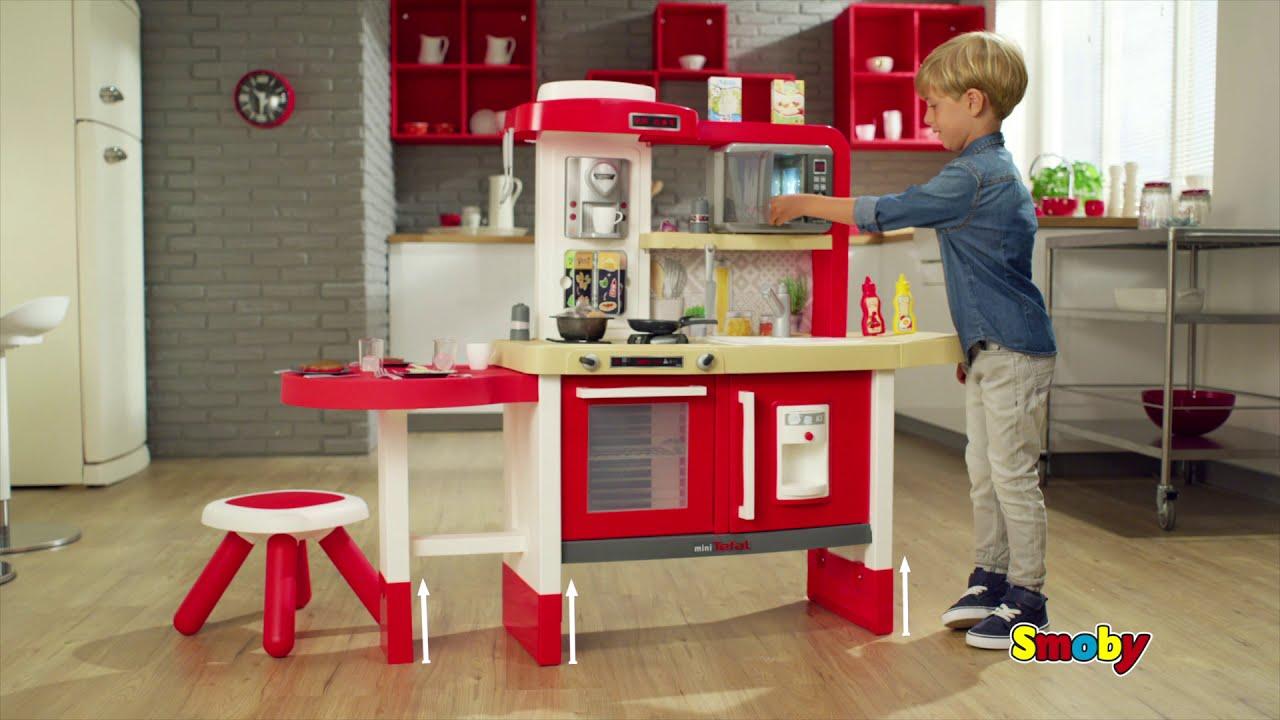Растущая Детская кухня Smoby Tefal Evolutive кухня кипение вода СВЧ и табурет 43акс.